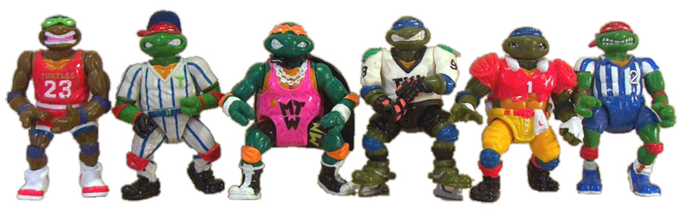 Muñecos de las Tortugas Ninja Sports Turtles TMNT