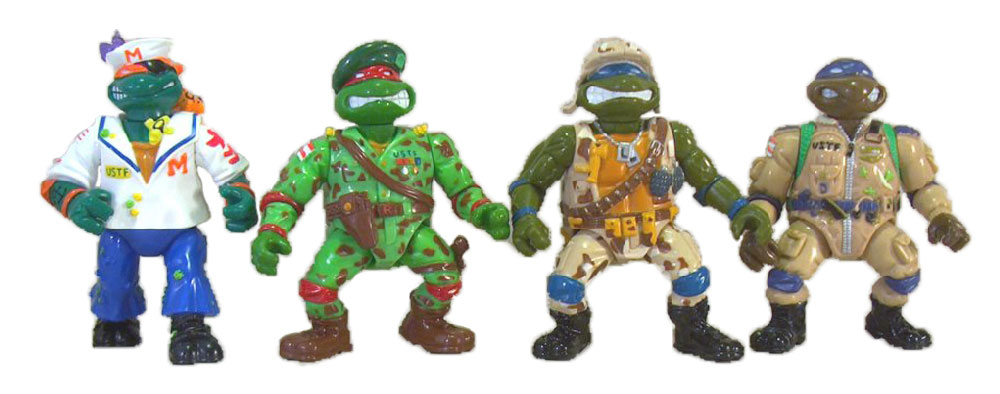 Muñecos de las Tortugas Ninja Mutant Military TMNT