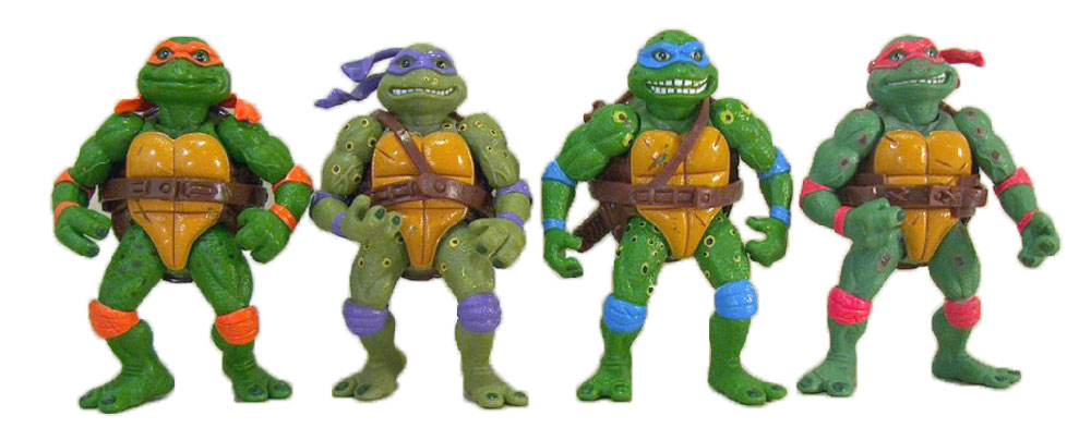 Muñecos de las Tortugas Ninja vintage Movie Star Turtles TMNT