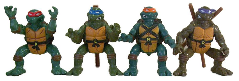 Muñecos de las Tortugas Ninja Ninja Action TMNT