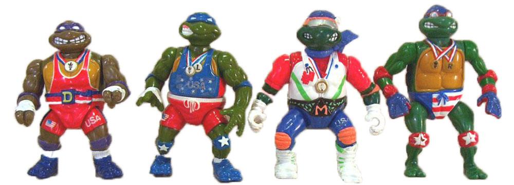 Muñecos de las Tortugas Ninja vintage Turtle Games TMNT