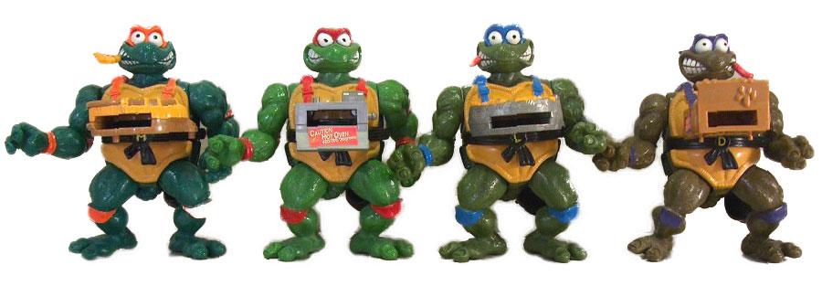 Muñecos de las Tortugas Ninja Pizza Tossin' Turtles TMNT