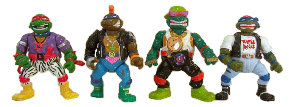 Muñecos de las Tortugas Ninja Rock'N Rollin' Turtles TMNT