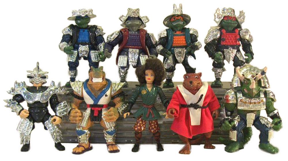 Muñecos de las Tortugas Ninja vintage Shoguns TMNT