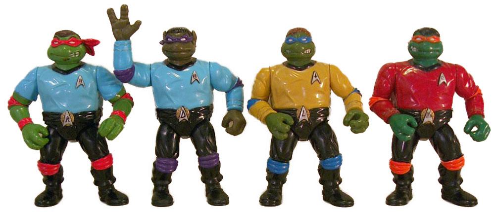 Muñecos de las Tortugas Ninja vintage Star Trek TMNT