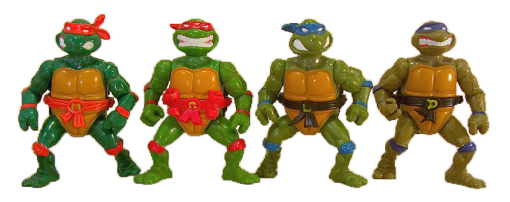 Muñecos de las Tortugas Ninja Storage Shell Turtles TMNT