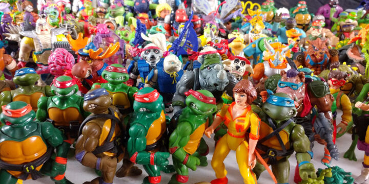 Muñecos de Las Tortugas Ninja TMNT vintage