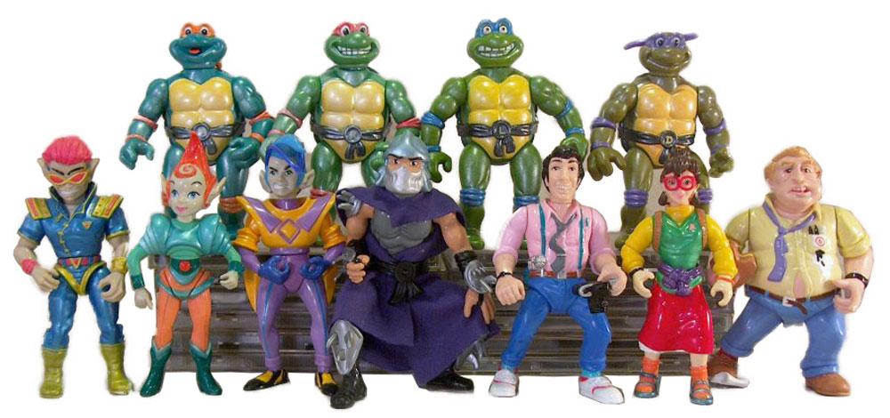 Muñecos de las Tortugas Ninja vintage Toon TMNT