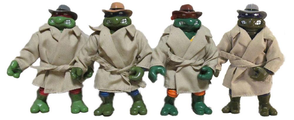 Muñecos de las Tortugas Ninja vintage Undercover Turtles TMNT