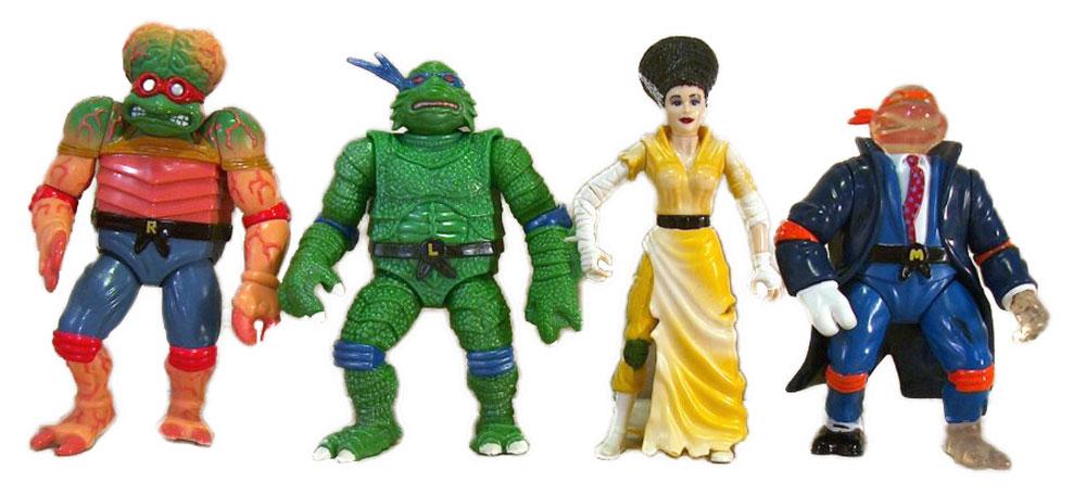 Muñecos de las Tortugas Ninja vintage Universal Monsters II TMNT