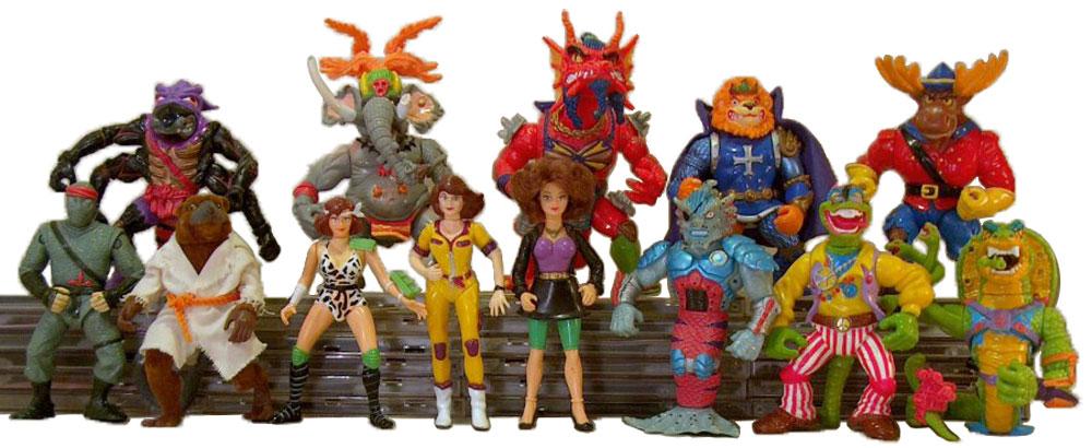 Muñecos de las Tortugas Ninja vintage 1992 TMNT