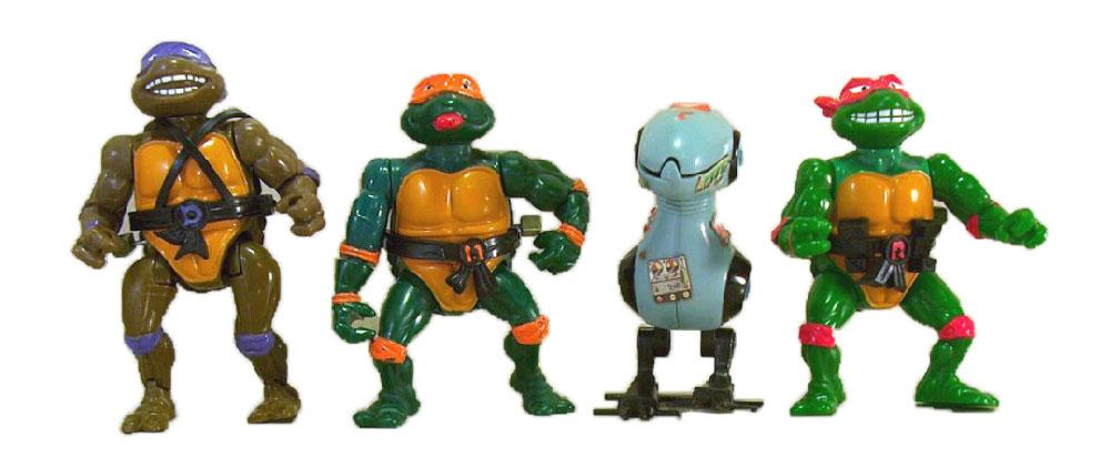 Muñecos de las Tortugas Ninja vintage wacky action TMNT