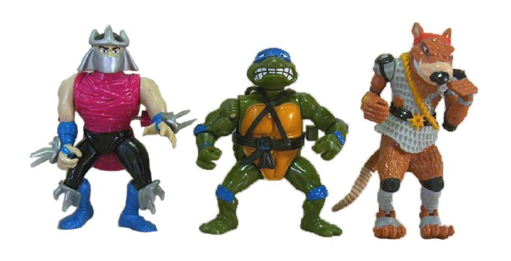 Muñecos de las Tortugas Ninja wacky action II TMNT