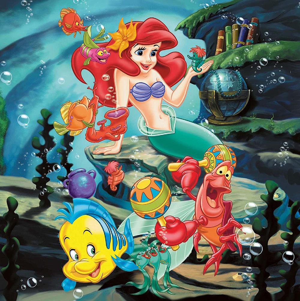 Rompecabezas de Disney 3 en 1: La Sirenita