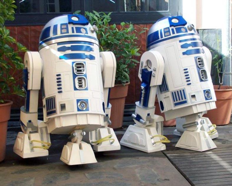 Réplicas de R2D2, el robot de Star Wars